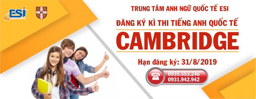 Đăng ký kì thi tiếng Anh Quốc tế chuẩn Cambridge